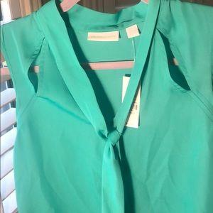 New York & Company Tops - NY&C tie neck blouse w/cutout details